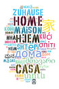 Word Home in different languages
