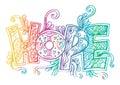 Word hope zentangle stylized Royalty Free Stock Photo