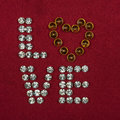 The word i love you made by ​​with rhinestones can be used as background Stock Image