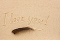 The Word I Love You Written On...