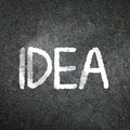 The word idea written on blackboard Royalty Free Stock Photography