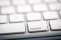 The word innovation written on metallic keyboard Royalty Free Stock Photography