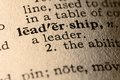 The word leadership Royalty Free Stock Photos