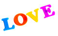Word love magnetic letters Royalty Free Stock Photo