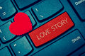 Word LOVE STORY. Royalty Free Stock Photo
