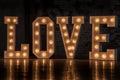 Word love Royalty Free Stock Photo
