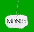 Word MONEY on a fishing hook Royalty Free Stock Photo