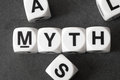 Word myth on toy cubes Royalty Free Stock Photo