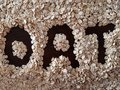 The word OAT surrounded by oat flakes