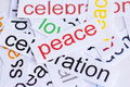 Word peace with blurred edges Stock Photo