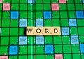 Word placed for on scrabble for use with designs Royalty Free Stock Photo