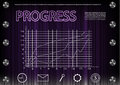 Word `progress` on a purplen background