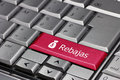 The word rebajas on a computer key with dollar sign purse Stock Image