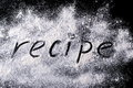 Word on the recipe flour flou Stock Images