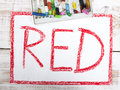 Word red Royalty Free Stock Photo
