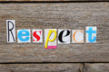 The word Respect Royalty Free Stock Photo