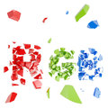 Word RGB crashed into little pieces Royalty Free Stock Photography
