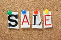 The word Sale Royalty Free Stock Photo