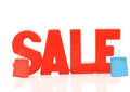 Word sale with shopping bags Royalty Free Stock Photo