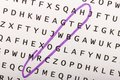 Word search, puzzle. Concept about finding, growth, success Royalty Free Stock Photo