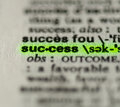 Word success closeup Royalty Free Stock Photo
