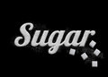 The word Sugar written by sugar grains Royalty Free Stock Photo