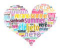 Word Summer in different languages