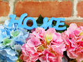 Word text home and gif box present with space copy backgroud made with vintage filter color