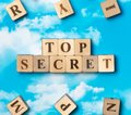 The word top secret Royalty Free Stock Photo