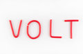 Word volts wires Royalty Free Stock Photo