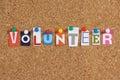The word Volunteer