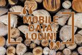 Word writing text Mobile Data Login. Business concept for allows smartphone users to access internet without WiFi Wooden