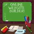 Word writing text Online Website Builder. Business concept for Program or tool that help you construct a website Mounted Royalty Free Stock Photo