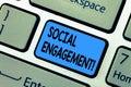 Word Writing Text Social Engag...