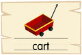 Wordcard template for red cart