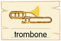 Wordcard template for trombone