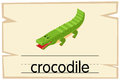 Wordcard template for word crocodile