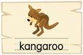 Wordcard template for word kangaroo