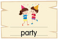 Wordcard template for word party