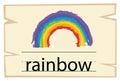 Wordcard template for word rainbow