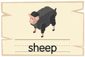 Wordcard template for word sheep