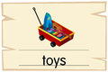 Wordcard template for word toys
