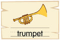 Wordcard template for word trumpet