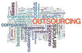 Wordcloud of outsourcing Royalty Free Stock Image