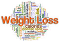 Wordcloud of weight loss Stock Image