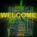 Wordcloud welcome Royalty Free Stock Photo