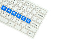 Wording Career  on computer keyboard Royalty Free Stock Image