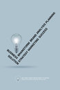 Words check mark correct and Light bulb, business concept