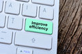 The words Improve efficiency on computer keyboard button Royalty Free Stock Photo