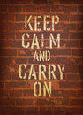 The words keep calm and carry on vector Royalty Free Stock Image